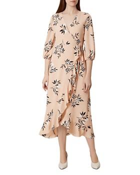 HOBBS LONDON - Kayla Botanical Midi Wrap Dress