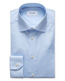 Eton - Allover Diamond Slim Fit Dress Shirt