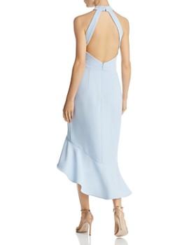 AQUA - Ruffled Midi Halter Dress - 100% Exclusive