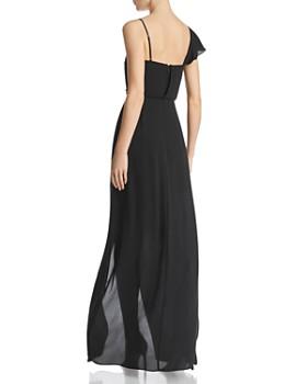 BCBG - Asymmetric Faux-Wrap Gown - 100% Exclusive