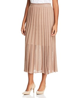 Marina Rinaldi - Grace Sheer-Detail Knit Midi Skirt
