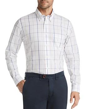 Brooks Brothers - Windowpane-Print Classic Fit Button-Down Shirt