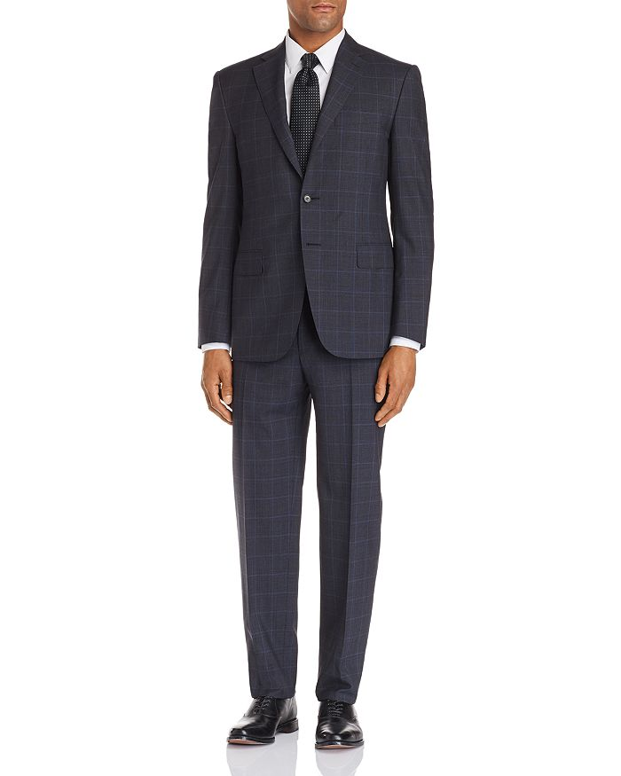 Canali - Siena Windowpane Classic Fit Suit - 100% Exclusive