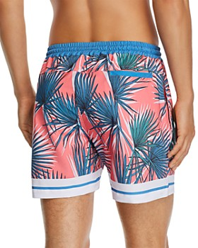 DUVIN - Shade Frond-Print Swim Shorts