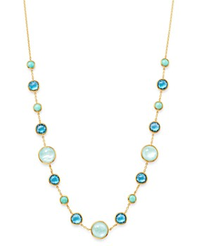 987bb9dd7ef IPPOLITA - 18K Yellow Gold Lollipop Multi-Gemstone Station Necklace, ...