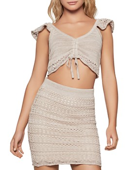 BCBGENERATION - Crochet-Trimmed Cropped Top