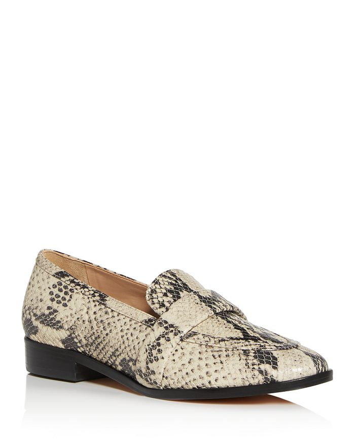 SCHUTZ - Women's Romina Snake-Embossed Apron-Toe Loafers