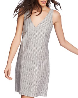 1.STATE - Sleeveless Striped Tie-Back Shift Dress