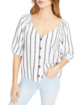 Sanctuary - Striped V-Neck Shirt