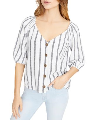 Striped V Neck Shirt by Sanctuary