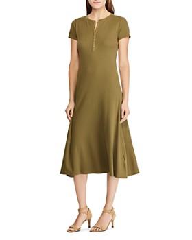 Ralph Lauren - Short-Sleeve Henley Dress