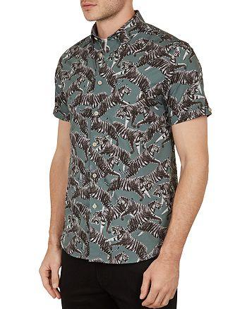 Ted Baker - Swarm Tiger Print Slim Fit Shirt