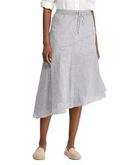 Ralph Lauren - Striped Asymmetric-Hem Skirt