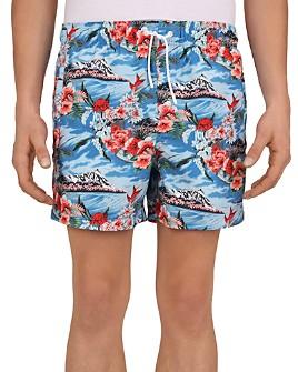 The Kooples - Mountain Flower Print Swim Shorts