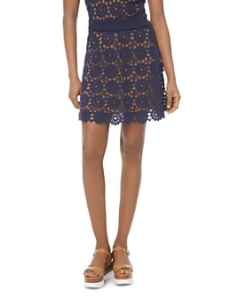 MICHAEL Michael Kors - Medallion-Pattern Lace Mini Skirt