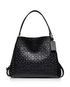COACH - Edie 31 Signature Leather & Border Rivets Shoulder Bag