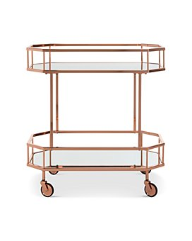 SAFAVIEH - Silva 2-Tier Octagon Bar Cart