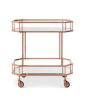 SAFAVIEH - Silva 2-Tier Octagon Bar Cart