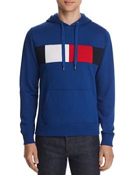 Tommy Hilfiger - Flag-Stripe Graphic Hooded Sweatshirt