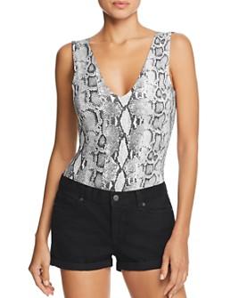 FORE - Snake Print Bodysuit