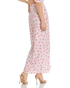 All Things Mochi - Ola Pink Polka Dot Silk Skirt