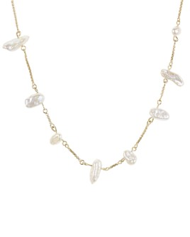 """Kendra Scott - Krissa Cultured Freshwater Pearl Station Necklace, 16"""""""