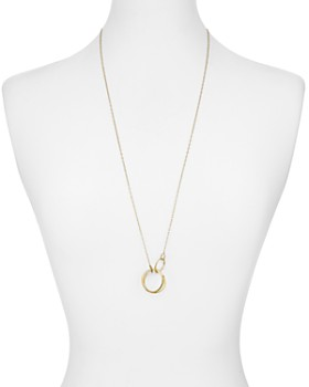 """Nadri - Linked Rings Pendant Necklace in 18K Gold-Plated & Ruthenium-Plated Sterling Silver, 30"""""""