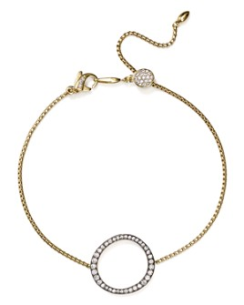 Nadri - Sirena Pavé Circle Station Slider Bracelet in 18K Gold-Plated & Ruthenium-Plated Sterling Silver