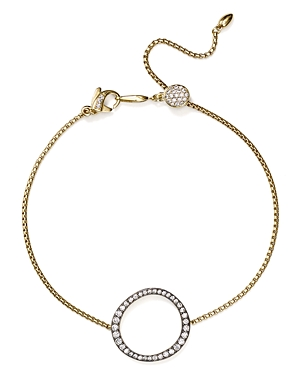 Nadri Slippers SIRENA PAVE CIRCLE STATION SLIDER BRACELET IN 18K GOLD-PLATED & RUTHENIUM-PLATED STERLING SILVER