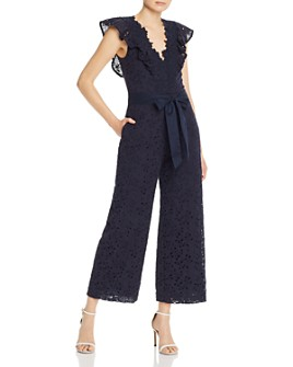 Rebecca Taylor - Sleeveless Clover Embroidered Jumpsuit