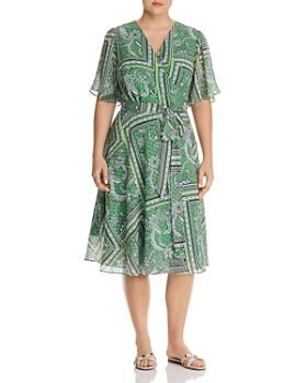 90fd2a0c1d2 Maree Pour Toi Plus - Floral-Paisley Midi Wrap Dress ...