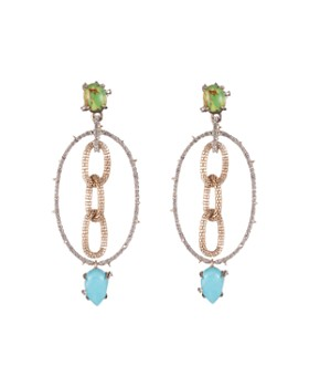 Alexis Bittar - Chain & Hoop Drop Earrings