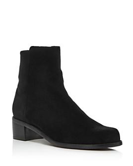 Stuart Weitzman - Women's Easyon Reserve  Leather & Neoprene Block-Heel Booties