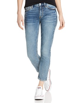 7 For All Mankind - Kimmie Cropped Jeans in Medium Blue