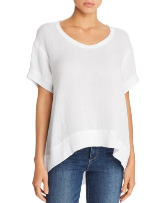 High/Low Textured Tee by Wilt