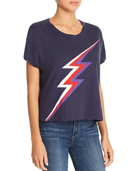 Sundry - Square Lightning Bolt Tee