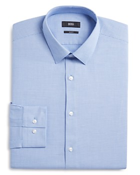 BOSS - Micro Solid Slim Fit Dress Shirt