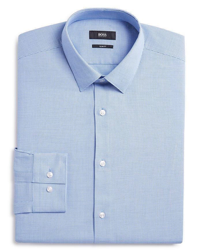 BOSS - Micro Solid Slim Fit Dress Shirt