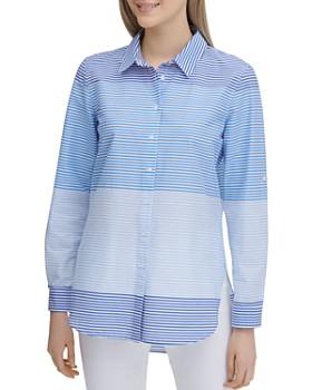 Calvin Klein - Striped Button-Down Top