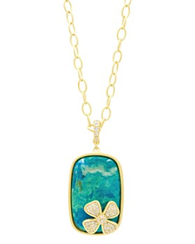 Freida Rothman - Harmony Large Stone Pendant Necklace in 14K Gold-Plated Sterling Silver, 18""