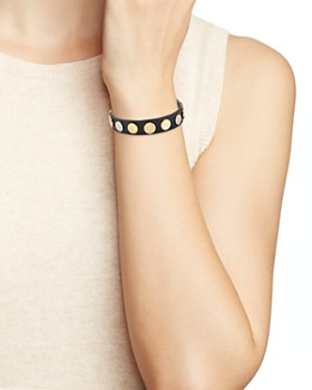 Tory Burch - Logo Studded Wrap Bracelet
