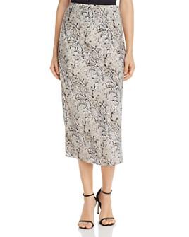 Bardot - Snake Print Slip Skirt