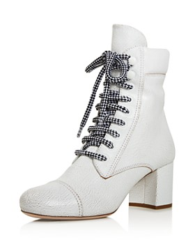 Miu Miu - Women's Never Mind Block Heel Boots