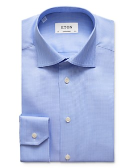 Eton - Textured-Weave Regular Fit Dress Shirt