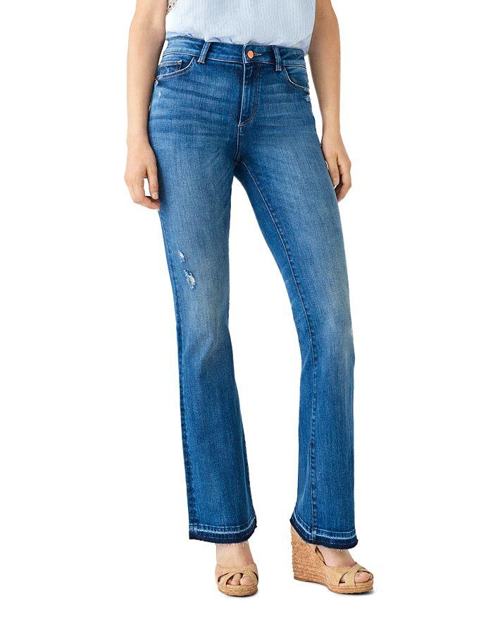 DL1961 - Bridget Distressed Released-Hem Boot Jeans in Sutherland