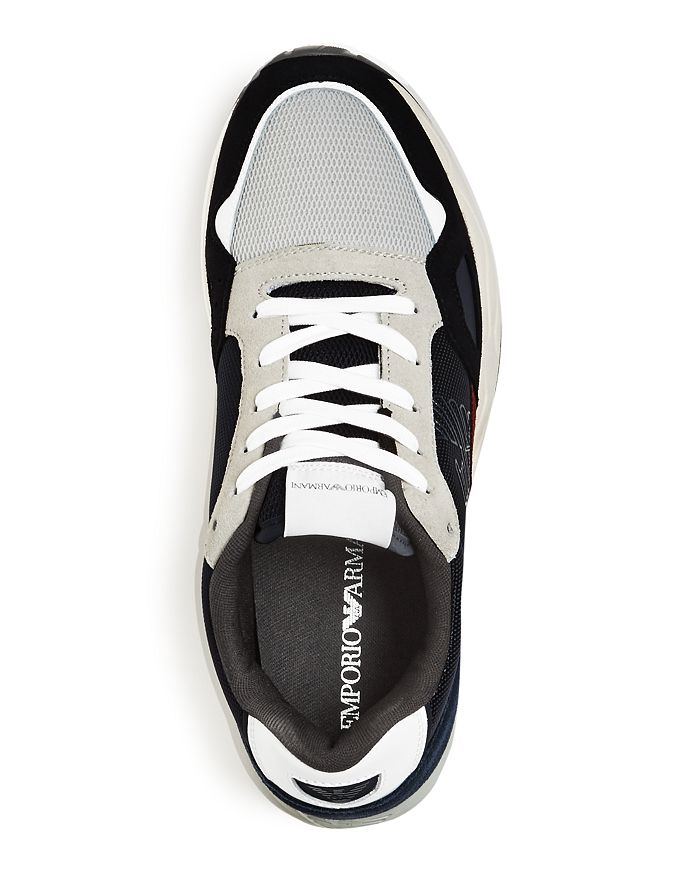 437a8f56 Men's Suede & Leather Low-Top Sneakers