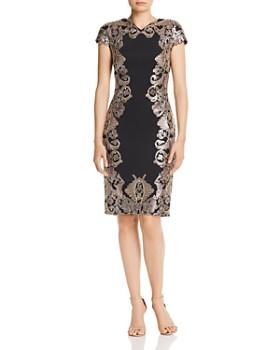 Tadashi Shoji - Neoprene Metallic Sequin Dress