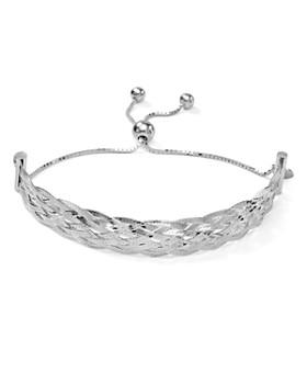 Argento Vivo - Lace Knot Adjustable Bracelet in Sterling Silver