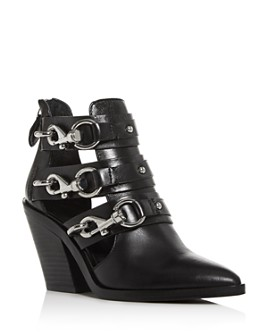 Rebecca Minkoff - Women's Seavie Clip-Clasp Pointed-Toe Booties