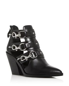 Rebecca Minkoff - Women's Seavie Clip-Clasp Pointed-Toe Boots
